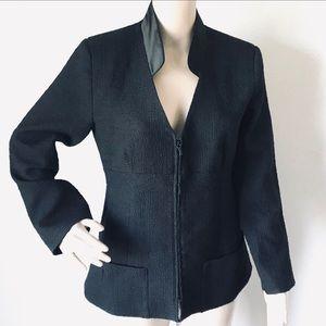 Chanel 94305 Vintage Jacket 100% Wool SZ 42 Eu